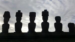 Moai-standbeelden op Paaseiland.