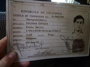 paspoort Pablo Escobar