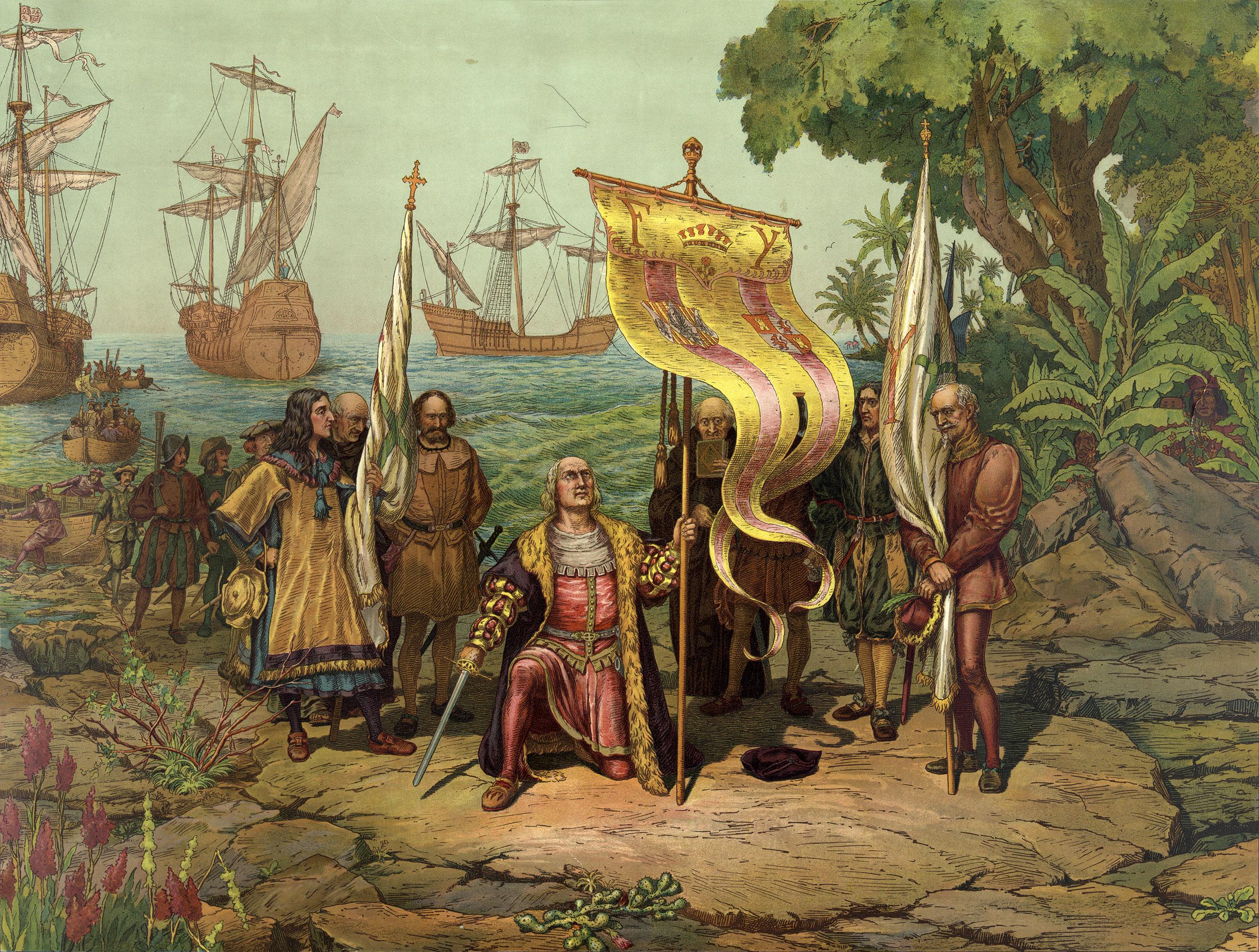 Columbus ontdekt Amerika