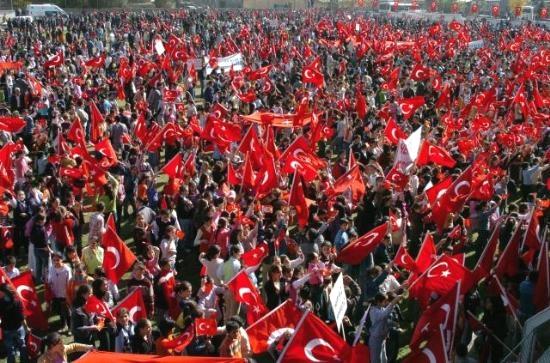 Demonstratie tegen PKK
