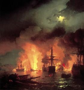 Slag bij Ceshma in 1770
