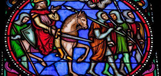 Kruistochten en kruisvaarders glaswerk
