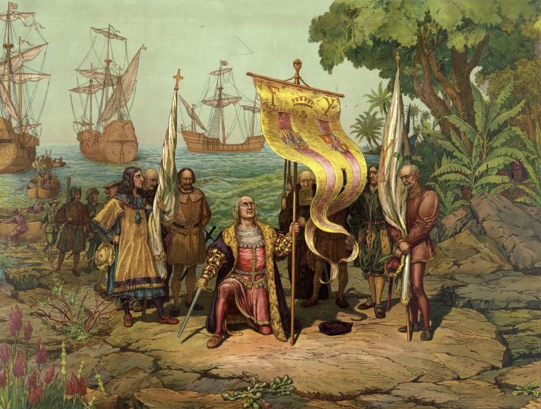 ontdekking Amerika door Columbus