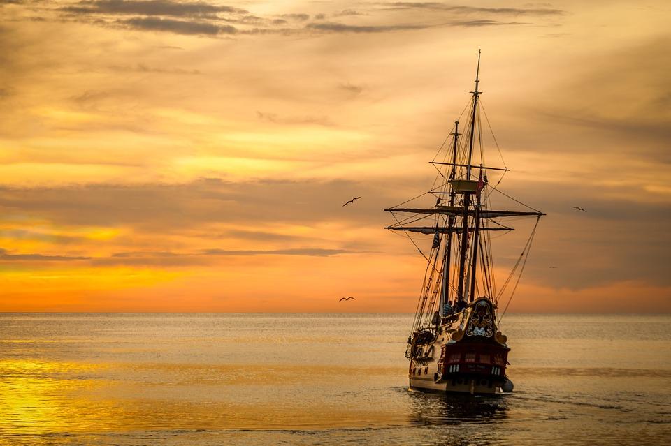 ontdekkingsreizigers-schip