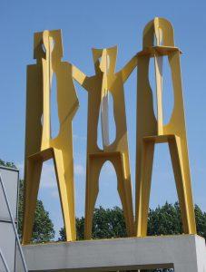 Schapenkoppen kunstwerk Dordrecht