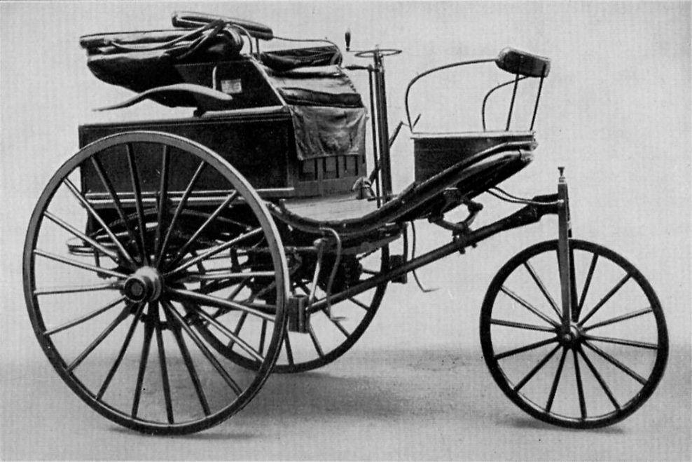 Auto uitgevonden door Benz